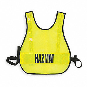 Safety Vest,Hazmat,Lime,Reflective