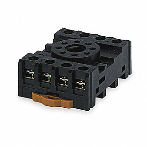 Relay Socket, Socket Type: Finger Safe, Socket Style: Octal, Number of Pins: 8