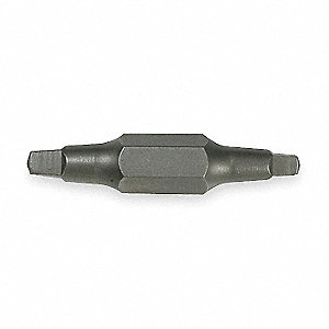 "#1/#2 Robertson Square Recess Double Ended Bit, 1/4"" Shank Size"
