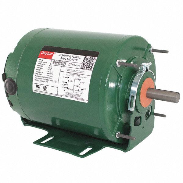 Dayton 1 2 hp agricultural fan motor split phase 1725 for Best lubricant for electric fan motor