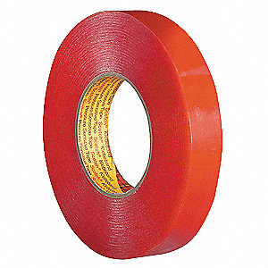 Double Coated Tape,1 In x 55 yd.,Clear