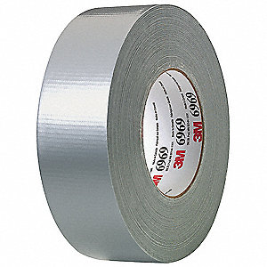 "Industrial Duct Tape, 2"" X 60 yd., 10.50 mil Thick, Metallic Coated Cloth, 1 EA"