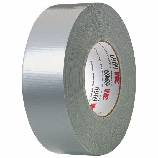 3M Duct Tape Grade Industrial, Number of Adhesive Sides 1, Duct Tape Type Duct  Tape - 15F769|6969 - Grainger