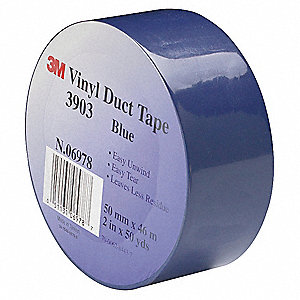 "Light-Duty Duct Tape, 2"" X 50 yd., 6.30 mil Thick, Blue Vinyl, 1 EA"
