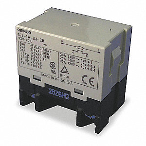 Enclosed Power Relay,4 Pin,24VDC,SPST-NO