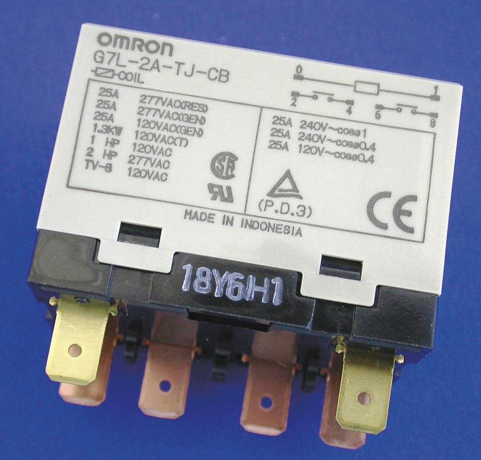 Omron 200 240vac 6 Pin Bracket Enclosed Power Relay Electrical Chattering Connection 1 4 Tab Terminal 1ych3 G7l 2a Tj Cb Ac200 240 Grainger