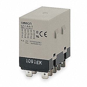 "200/240VAC, 10-Pin Bracket Enclosed Power Relay; Electrical Connection: 1/4"" Tab Terminal"