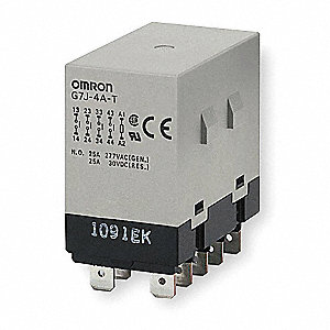 Enclosed Power Relay,10Pin,24VDC,4PST-NO