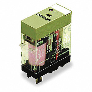 120VAC, 5-Pin Square Base General Purpose Plug-In Relay&#x3b; AC Contact Rating: 10A @ 240V