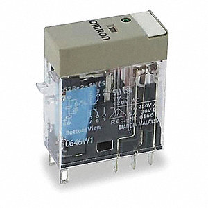 12VDC, 8-Pin Square Base General Purpose Plug-In Relay; AC Contact Rating: 5A @ 240V