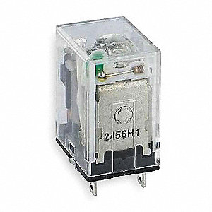 12VDC, 8-Pin Square Base General Purpose Plug-In Relay; AC Contact Rating: 10A @ 120V