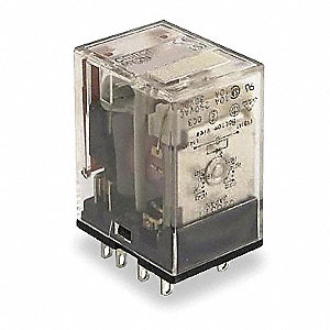 Plug In Relay,8 Pins,Square,120VAC