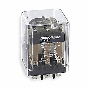 Plug In Relay, 11 Pins, Square Base Type, 10A @ 240VAC/28VDC Contact Rating, 24VAC Coil Volts