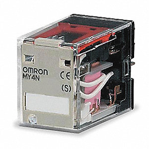 240VAC, 14-Pin Square Base General Purpose Plug-In Relay&#x3b; AC Contact Rating: 5A @ 240V