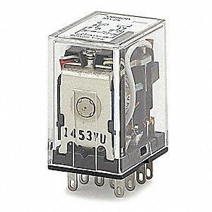 Plug-In Relay, 10 Pins, Square Base Type, 3A @ 220VAC/24VDC Contact Rating, 120VAC Coil Volts