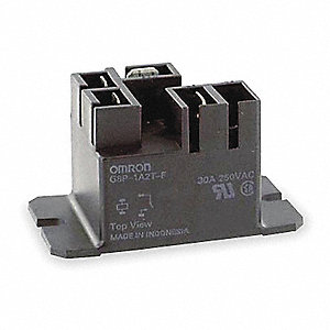 Enclosed Power Relay, 4 Pins, 12VDC Coil Volts, 20A @ 250VAC (NO), 10A @ 250VAC (NC), 20A @ 28VDC (N