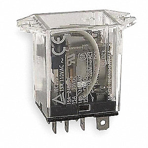 120VAC, 8-Pin Flange Mount Relay; Flange Location: Top, AC Contact Rating: 15A @ 120V