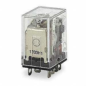 24VAC, 8-Pin Square Base General Purpose Plug-In Relay&#x3b; AC Contact Rating: 5A @ 120V