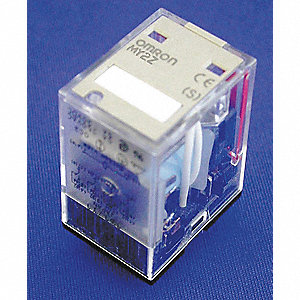 Plug-In Relay, 8 Pins, Square Base Type, 5A @ 250VAC/30VDC Contact Rating, 24VDC Coil Volts