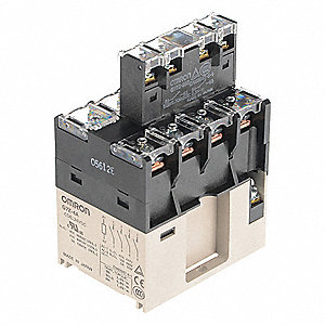 Enclosed Power Relay,14Pin,24VAC,4PST-NO