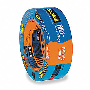 "Painters Masking Tape, 60 yd. x 1-1/2"", Blue, 3.8 mil"
