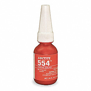 10mL Bottle Refrigerant Pipe Sealant with 10,000 psi, Red