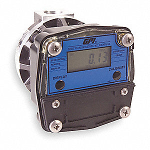 Oval Gear 1/2 FNPT Flowmeter, Stainless Steel, 0.53 to 7.9 gpm