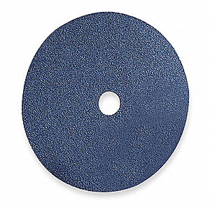 "4-1/2"" Coated Fiber Disc, 7/8"" Mounting Hole Size, Coarse, 50 Grit Zirconia Alumina, 25 PK"