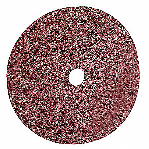 "4"" Coated Fiber Disc, 5/8"" Mounting Hole Size, Medium, 120 Grit Aluminum Oxide, 10 PK"