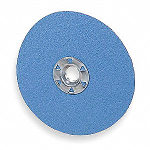 "7"" Coated Fiber Disc, 5/8"" Mounting Hole Size, Coarse, 50 Grit Zirconia Alumina, 25 PK"