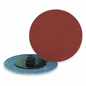 "3"" Quick Change Disc, Aluminum Oxide, TR, 80 Grit, Medium, Coated, AO/Y, PK25"
