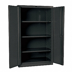 "Storage Cabinet, Charcoal, 60"" Overall Height, Assembled"
