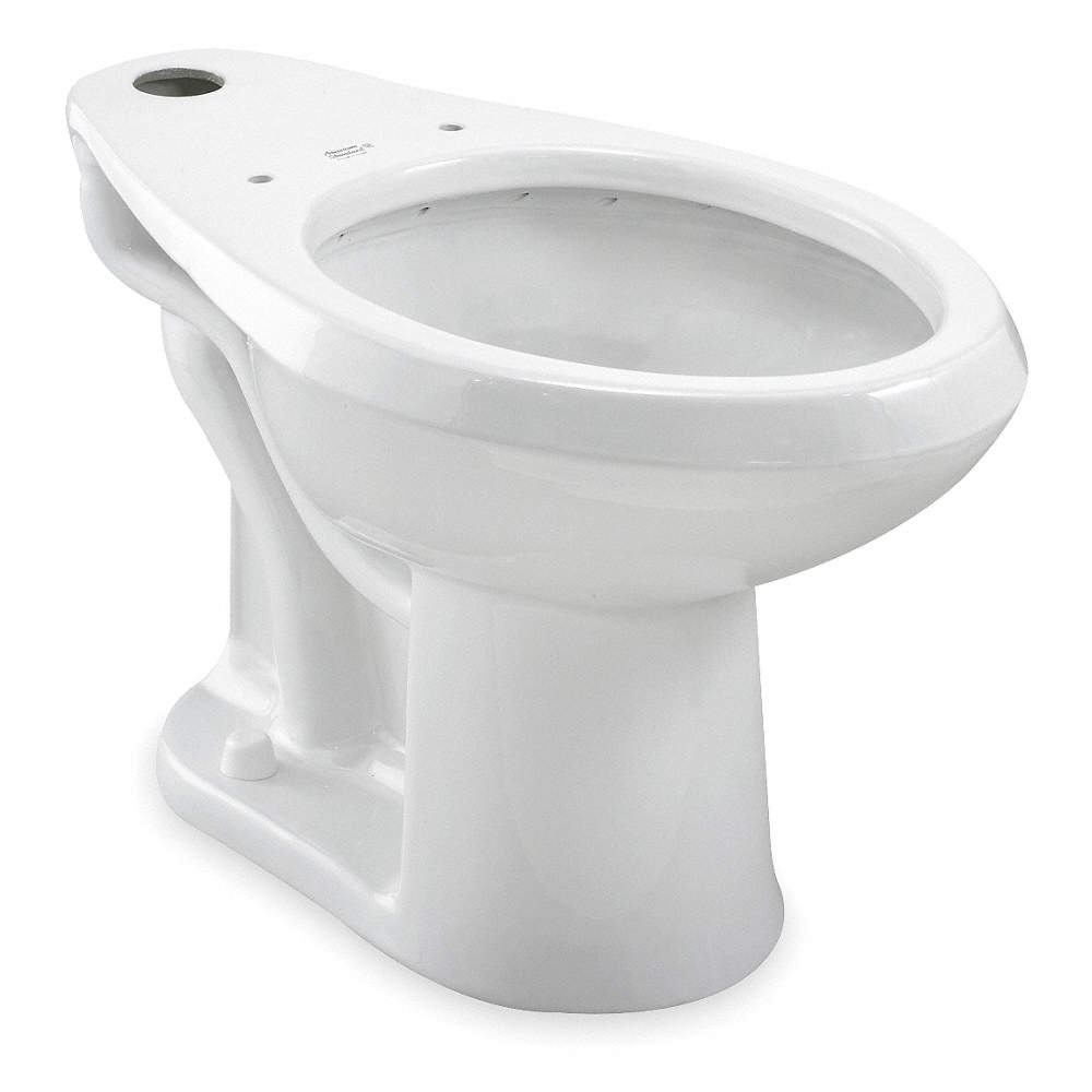 AMERICAN STANDARD Toilet Bowl, Floor Mounting Style, Elongated, 1.1 ...