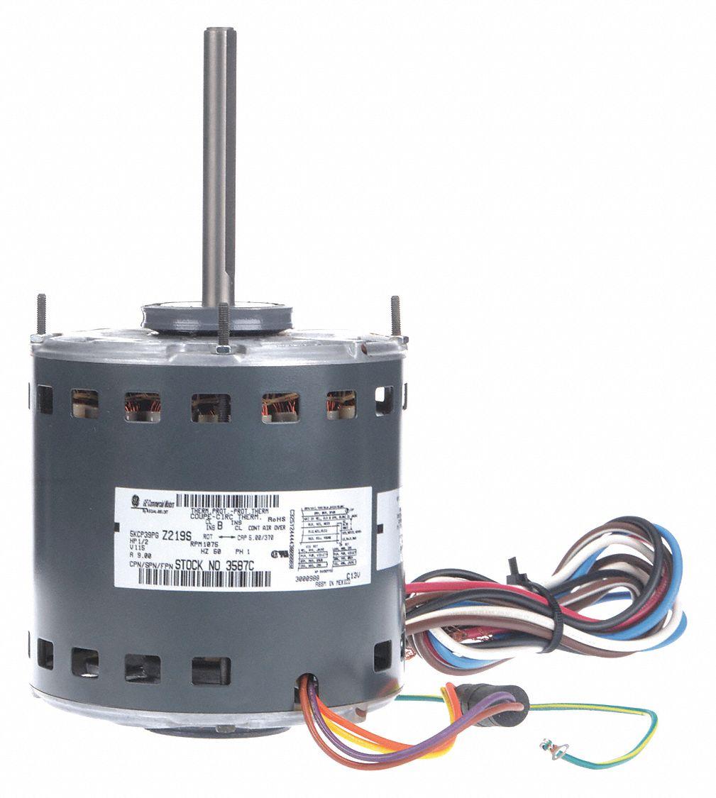 Genteq 1 2 Hp Direct Drive Blower Motor Permanent Split Capacitor Wiring Diagram 1075 Nameplate Rpm 115 Voltage 1yja9 3587 Grainger