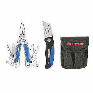 Multi-Tool/Utility Knife Set, Natural Handle Color, Butterfly Opening Opening Action, Number of Tool