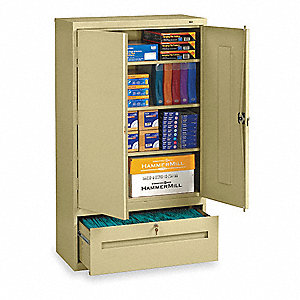 "36"" x 18"" x 66"" Lateral File Drawer Cabinet, Sand"