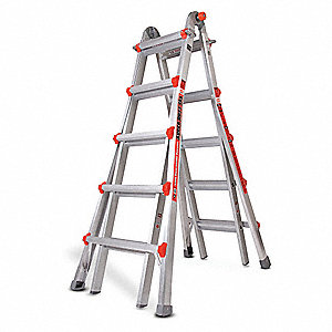 Little giant escalera multiusos al 22 pies cap 375lb for Escalera multiusos