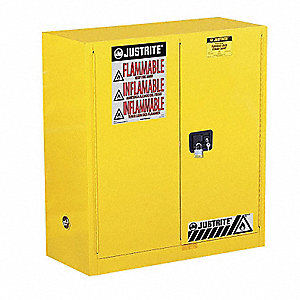 Superieur Flammable Safety Cabinet,30 Gal.,Yellow