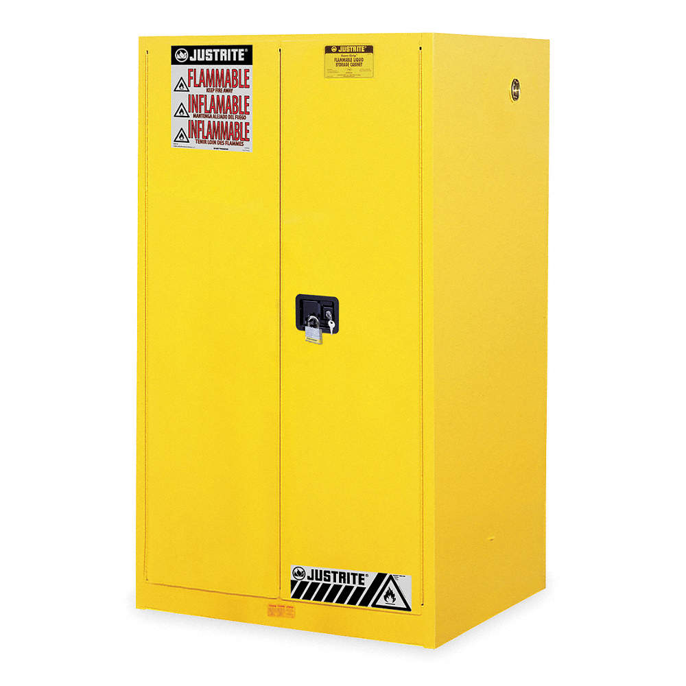 JUSTRITE Flammable Safety Cabinet GalYellow YNE - Fireproof chemical cabinet