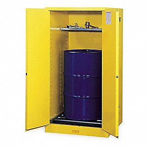 "55 gal. Hazardous Waste and Drum Storage Cabinet, 65"" x 34"" x 34"", Manual Door Type"