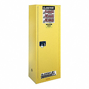 Flammable Safety Cabinet,22 Gal.,Yellow