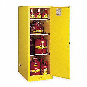 Flammable Safety Cabinet,54 Gal.,Yellow