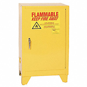 "12 gal. Flammable Cabinet, 39"" x 23"" x 18"", Manual Door Type"