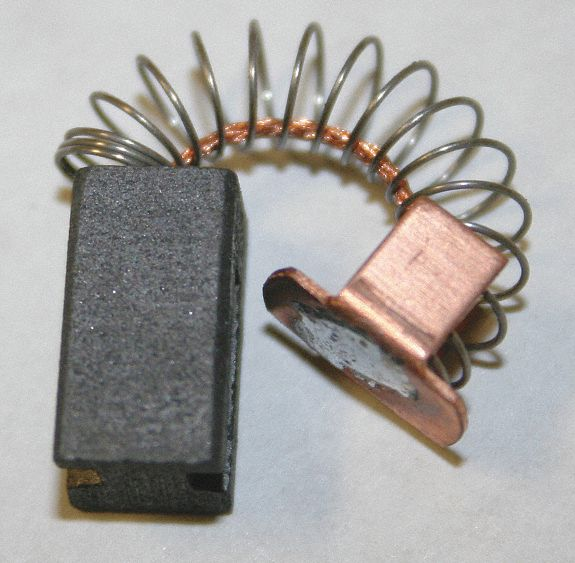 Motor Brush Set,1-1//4 In L,3//8 In W,PK2 6YHY9