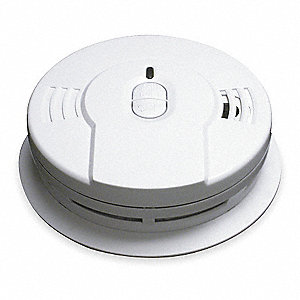 "5-5/8"" Smoke Alarm with 85dB @ 10 ft., Horn Audible Alert&#x3b; 3V Lithium"