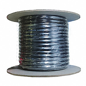 25 ft. Portable Cord&#x3b; Conductors: 3, Wire Size: 14 AWG, Jacket Type: SJOOW, Jacket Color: Black