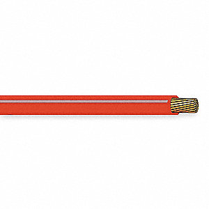 25 ft. PVC Bulk Battery Cable with 1 Conductor(s), 4 AWG Wire Size, 50VDC Max. Voltage; Red