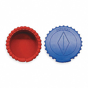 GAUGE BOOTS,ONE BLUE AND ONE RED