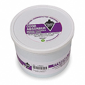 Odor Eliminator, Unscented Fragrance, 8 oz. Tub, Gel