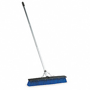 "Plastic Push Broom, Block Size 24"", Plastic Block Material"